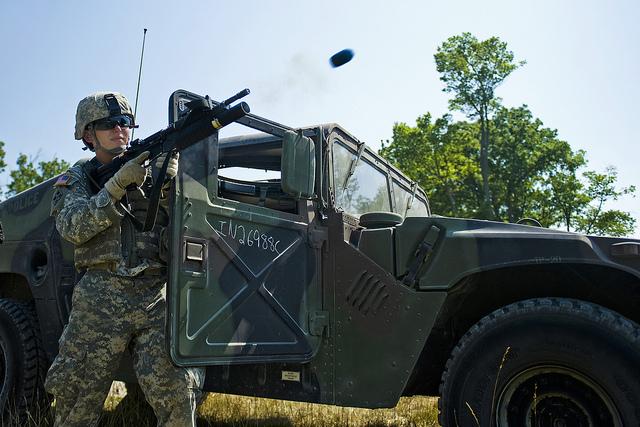 deploying explosive weapons