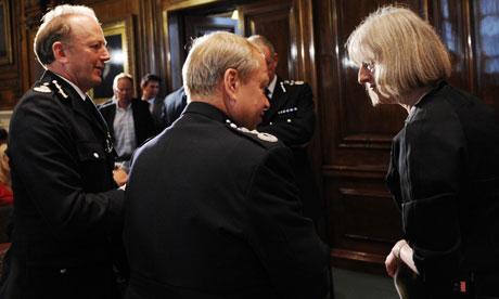 Top cops talk to Theresa May